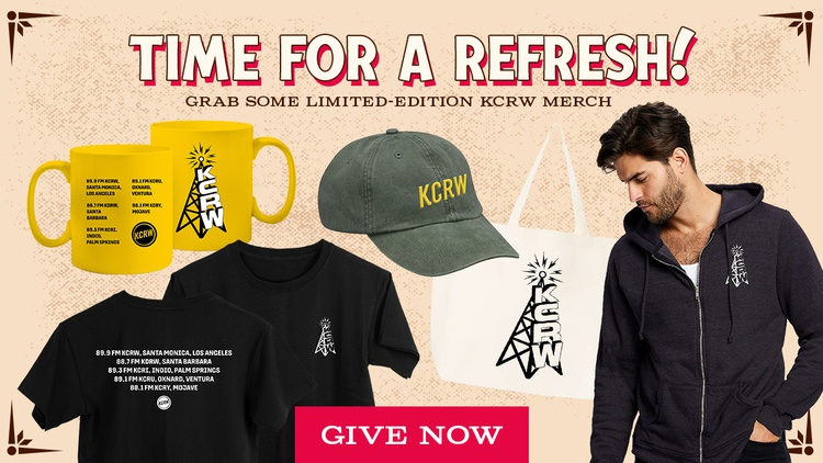 Donate to grab your new KCRW merch