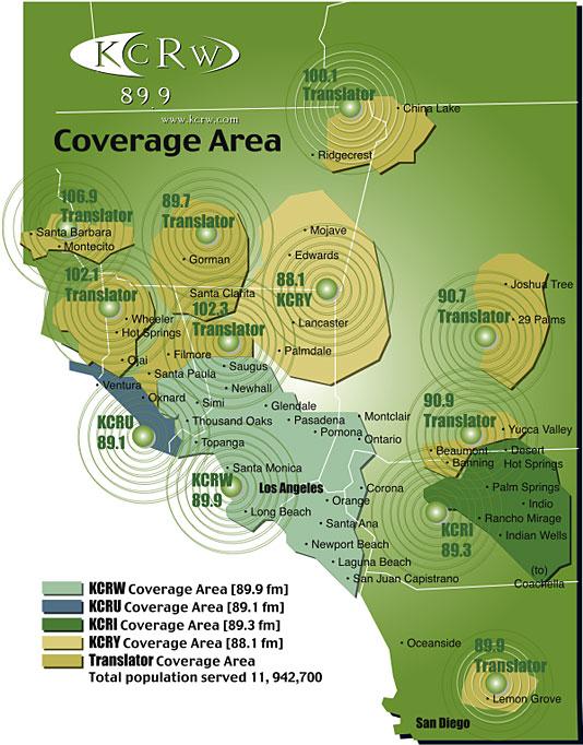 KCRW Coverage Map