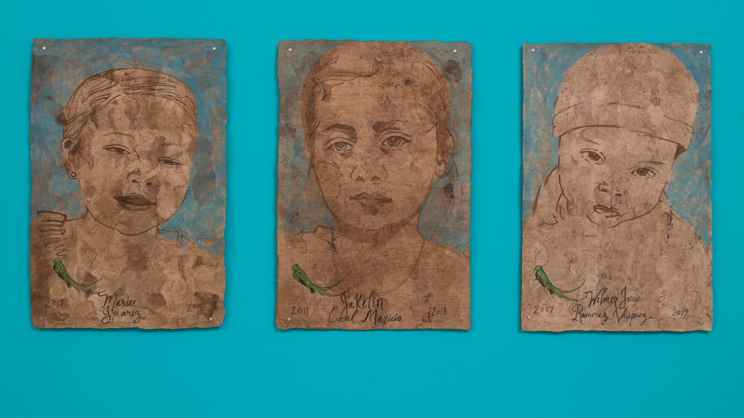 Portraits by Sandy Rodriguez at Charlie James Gallery. Image courtesy of the artist and Charlie James Gallery.
