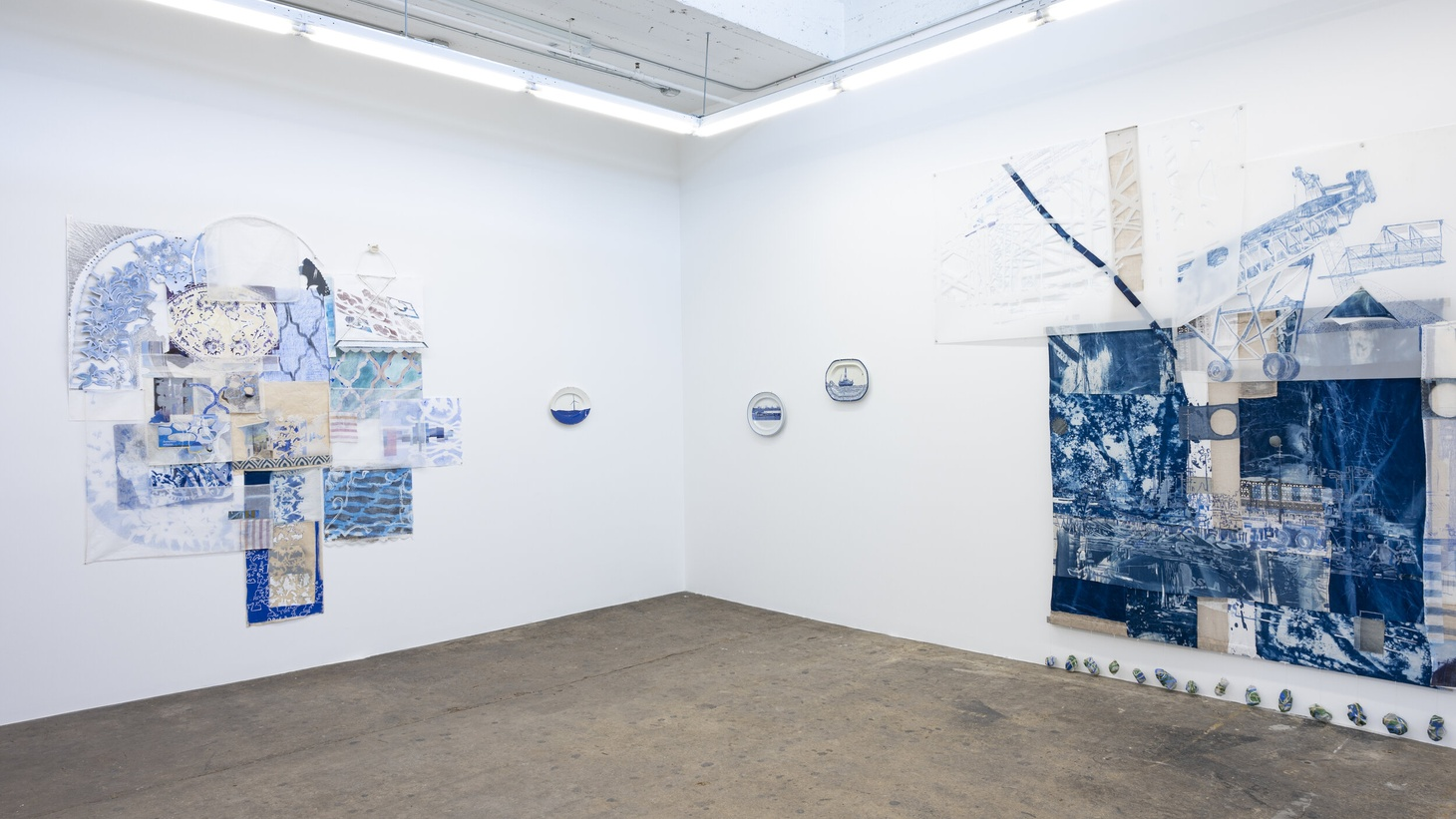 Fran Siegel and Paul Scott, Seam & Transfer (installation view) (2020).