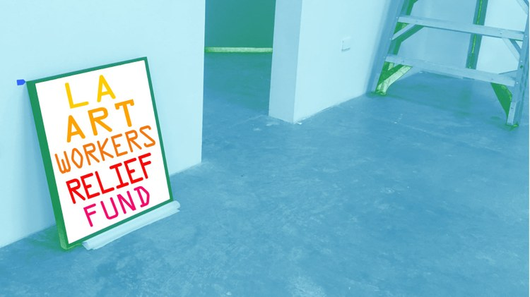 A new grant is raising funds for art workers who've been affected by COVID-19. A virtual gallery allows viewers to explore an offshore art island.