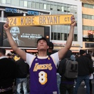 Photos: Kobe Bryant memorial at LA Live draws hundreds of mourners