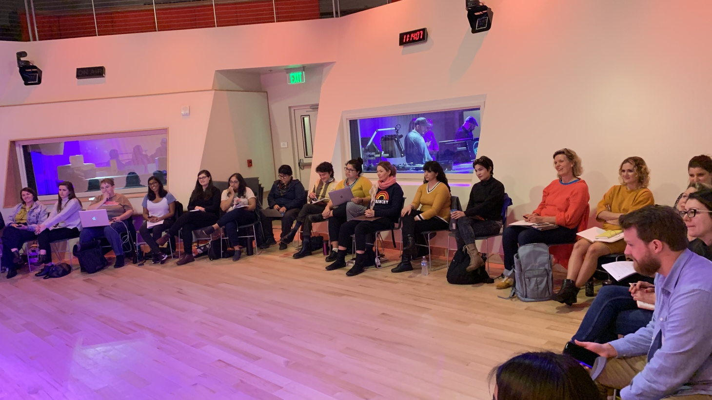 A group of about 40 independent producers gathered at KCRW Saturday, March 2 to learn more about radio and owning their voice.