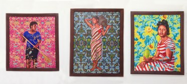 Kehinde Wiley. Exhibition at Roberts & Tilton Gallery.