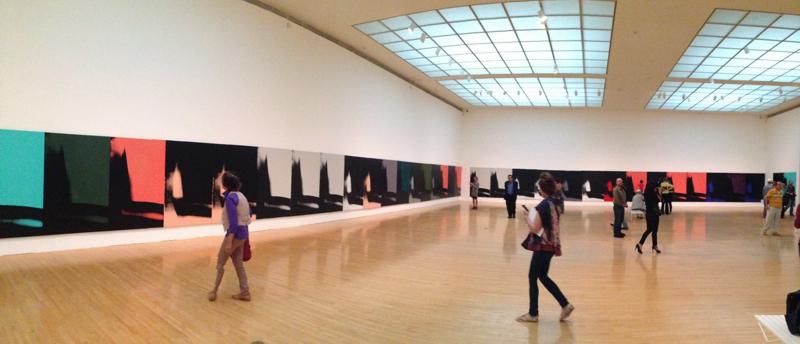 Andy Warhol: Shadows. Exhibition at MOCA. Photo by Edward Goldman.