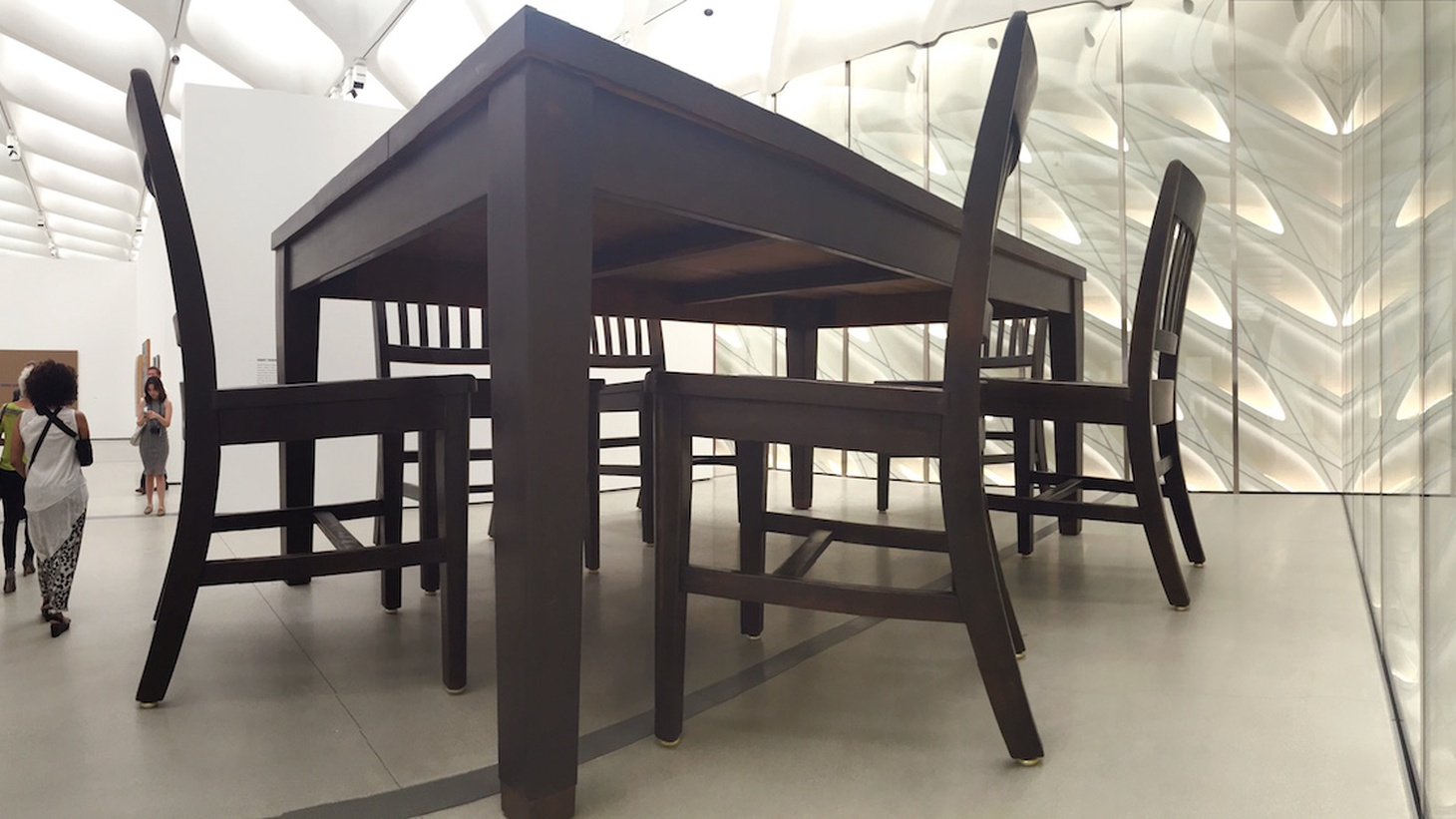 Installation shot: Robert Therrien. Under the Table, 1994. The Broad.