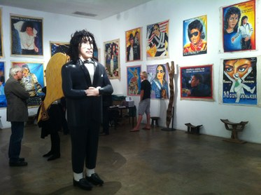 """Michael Jackson: In the After-Life,"" installation view, 2012, Ernie Wolfe Gallery"