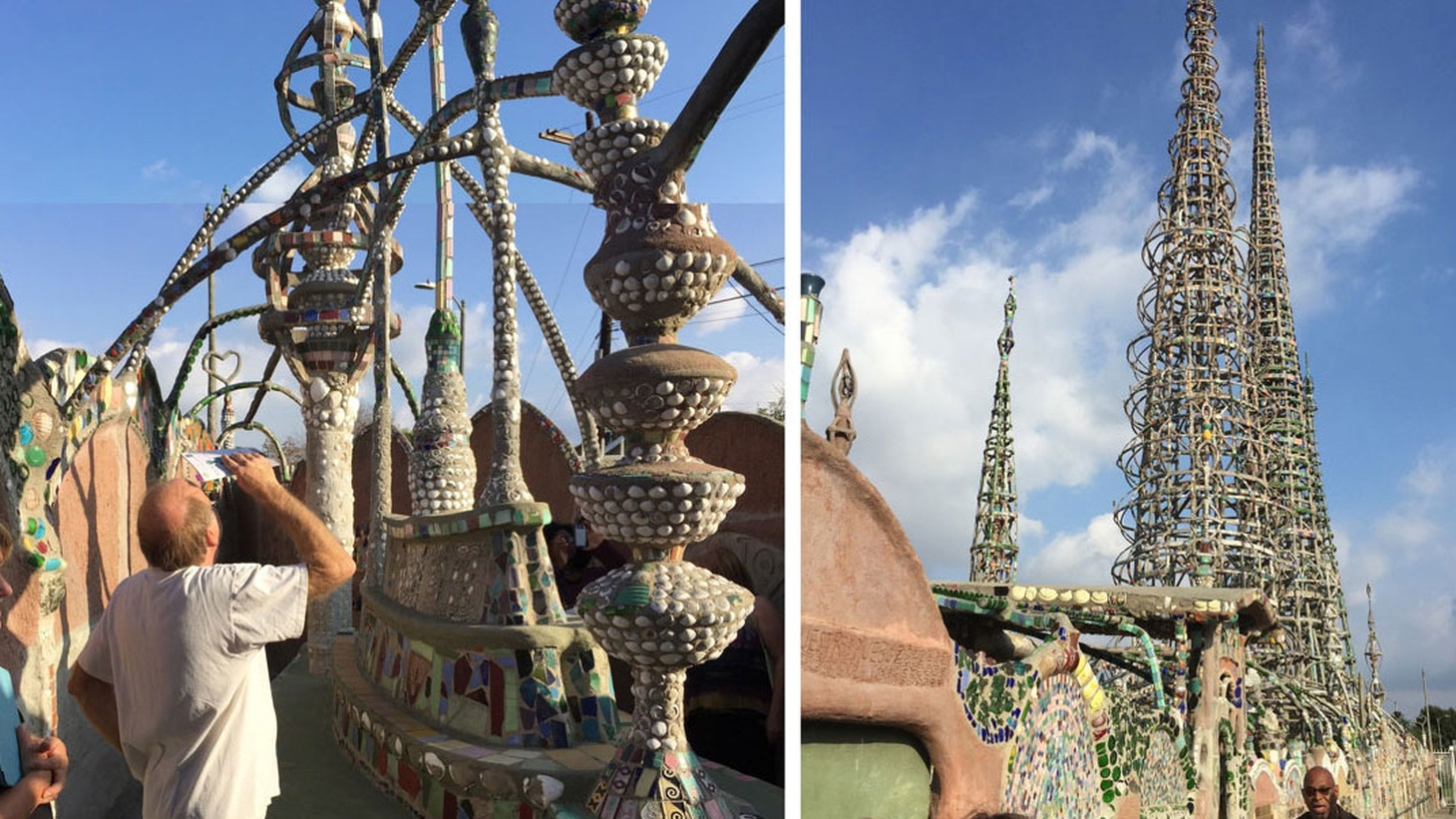 Edward Goldman marvels at the the urban landmark of Watts Towers, the sculptural works of LA artist Alison Saar, and the recent Robert Wilson production featuring Mikhail Baryshnikov and Willem Dafoe.