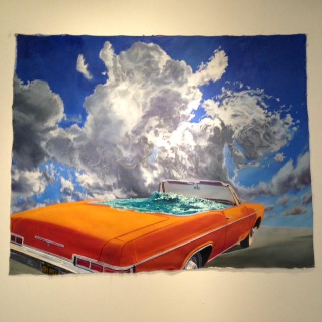 John ValadezDrowning the Firebird, 2014Acrylic on canvas
