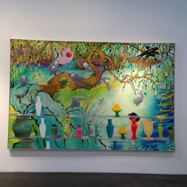 Les BillerSwing Monkey, 2007-2011Oil on Canvas