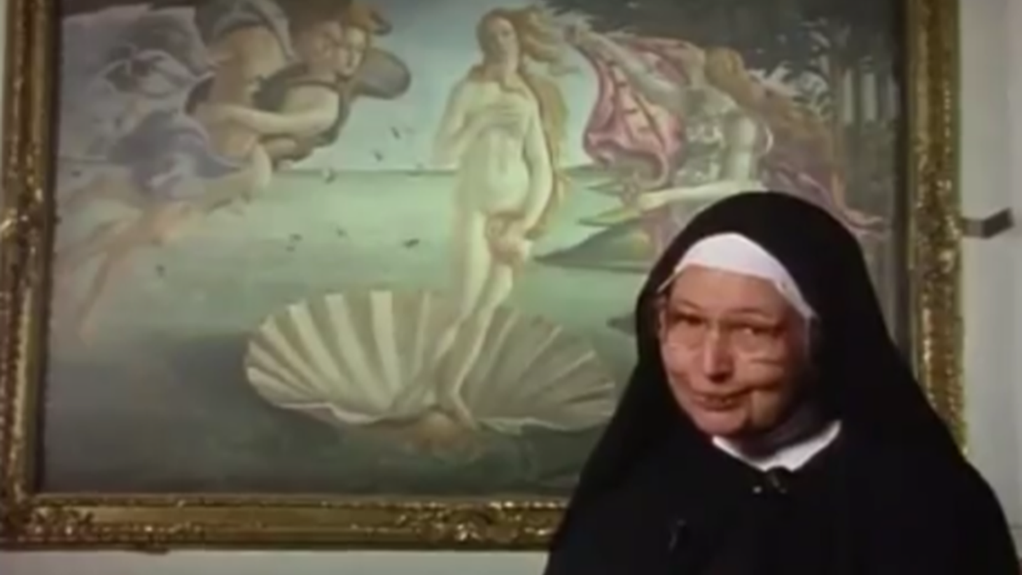 "Still from ""SISTER WENDY Botticelli Birth of a Venus"""