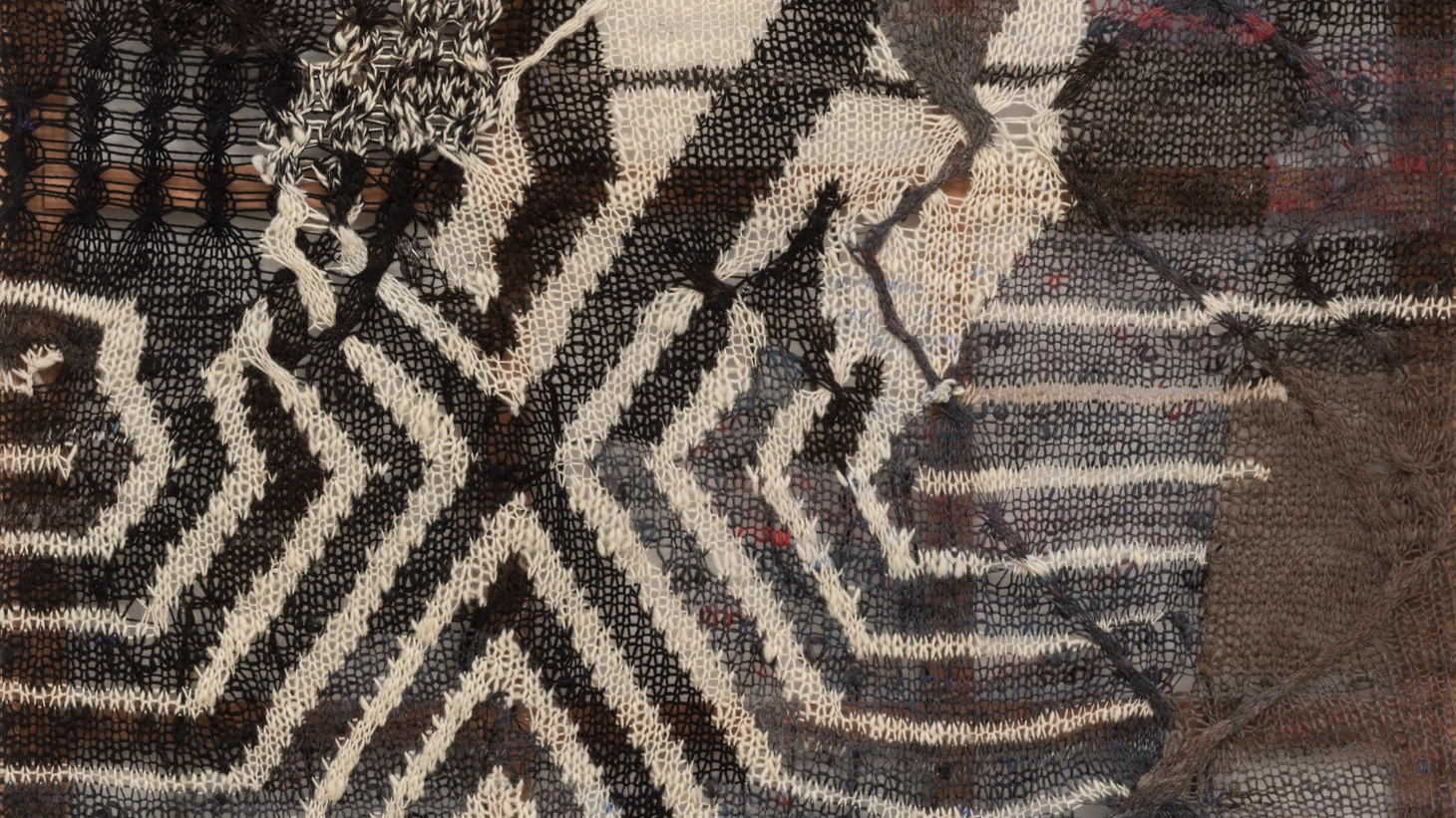 Hunter Drohojowska-Philp says the artist's knitted paintings are rich with complex meanings.