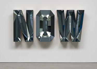 Doug AitkenNOW (Blue Mirror)2014Wood, mirror and glass48 1/4 x 108 1/2 x 18 inches(122.6 x 275.6 x 45.7 cm)