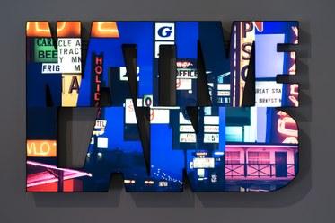 Doug AitkenNATIVE LAND2014Aluminum lightbox, LED lights, chromogenic transparency, acrylic52 x 84 1/4 x 7 1/2 inches(132.1 x 214 x 19.1 cm)