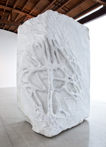 Giuseppe Penone, Anatomia / Anatomy, 2011 White Carrara marble124 x 74 13/16 x 63 inches, (315 x 190 x 160 cm)