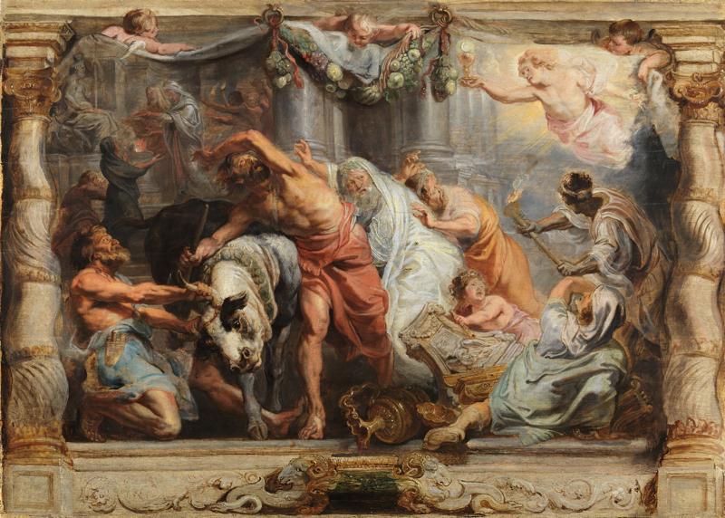 Peter Paul Rubens. The Triumph of Divine Love, 1625-1626. Oil on panel. Museo Nacional del Prado, Madrid.