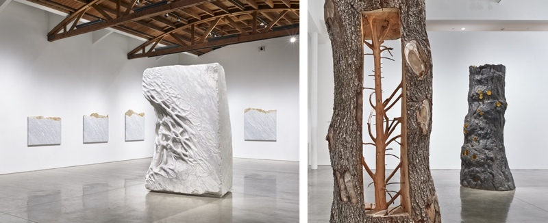 Giuseppe Penone. Branches of Thought. Exhibition at Gagosian Gallery, BH. Photograph by Douglas M. Parker Studio.