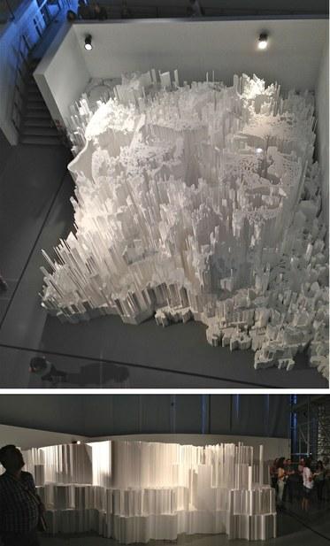 Alexandre Farto (Vhils). Exhibition at The Electricity Museum, Lisbon. Photos Edward Goldman.
