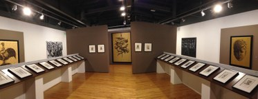 "Installation view. ""Fabelo's Anatomy"" exhibition at MOLAA. Photo Edward Goldman."