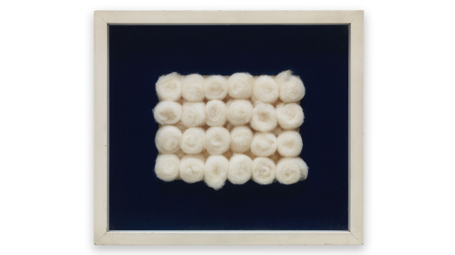 Piero Manzoni. Achrome. 1961 - 1962. Cotton wool balls 15 x 20 cm / 5 7/8 x 7 7/8 in (cotton). Private Collection