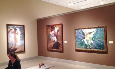 Installation view. Sorolla and America. Exhibition at The San Diego Museum of Art. Photo Edward Goldman.