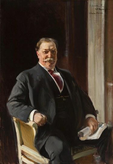 Joaquín Sorolla y Bastida. Portrait of William Howard Taft, President of the United States of America, 1909. Oil on canvas. The Taft Museum, Cincinnati.