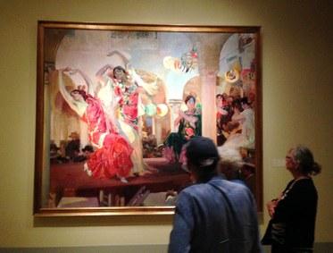Joaquín Sorolla y Bastida. Dancing in the Café Novedades of Sevilla, 1914. Oil on Canvas. Fundación Banco Santander.