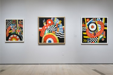 Installation view. Marsden Hartley: The German Paintings 1913 – 1915. Los Angeles County Museum of Art.