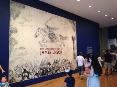 The Scandalous Art of James Ensor, The Getty Museum, Closing Day. Photoby Edward Goldman.