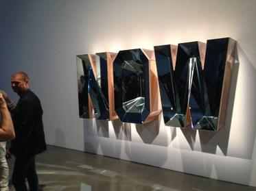 Doug Aitken. NOW (Blue Mirror). 2014. Wood, mirror, and glass. Photo byEdward Goldman.