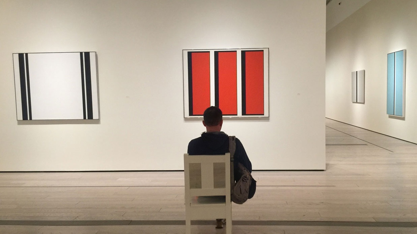 Edward Goldman talks about the exceptional retrospective exhibition of geometric abstract paintings by John McLaughlin at LACMA.