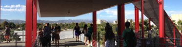 View of Los Angeles from LACMA's Broad Building.
