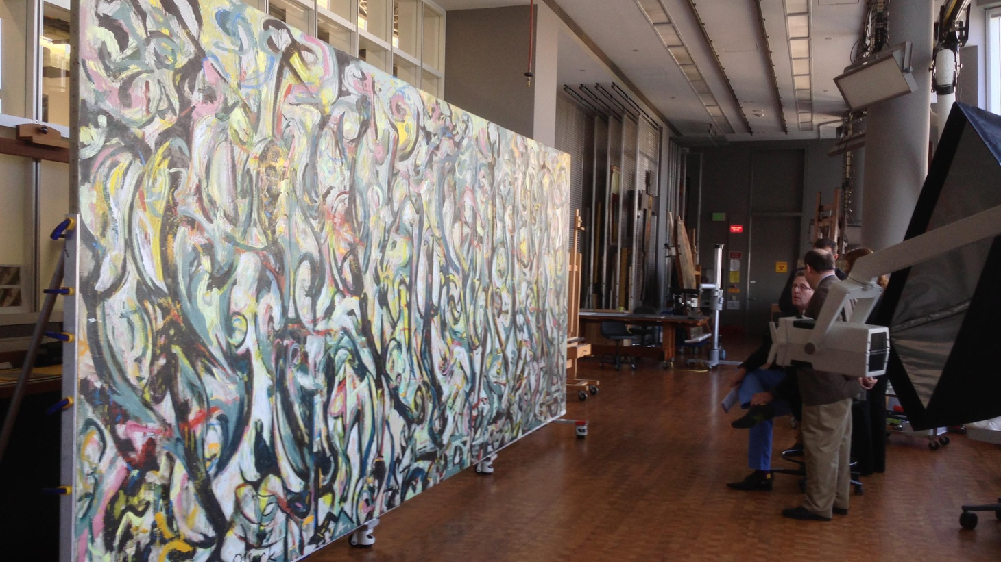 Edward Goldman talks about the newly restored Jackson Pollock mural opening at the Getty, as well as two major LA artists exhibiting at LA Municipal Gallery.