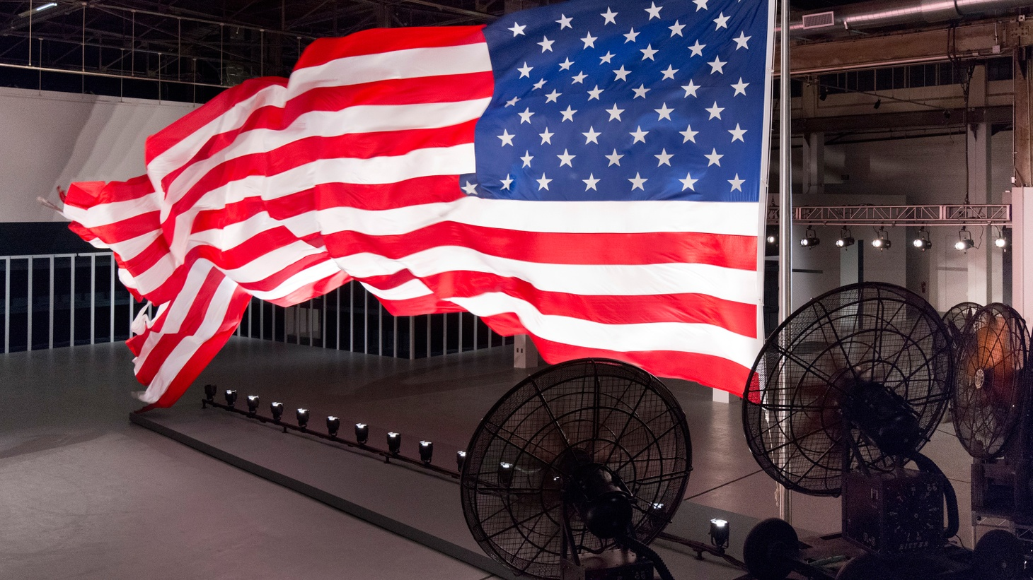Hunter Drohojowska-Philp thrills to the power of the big flag on view in Trinket.