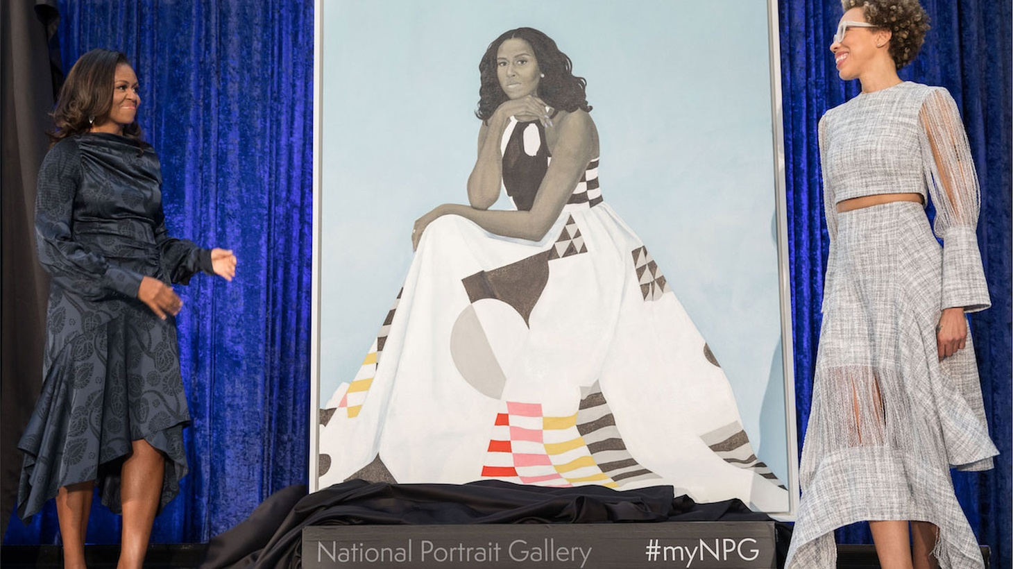 Edward talks about the front-page-news-worthy unveiling of Barack and Michelle Obamas' portraits at the National Portrait Gallery in Washington, D.C.