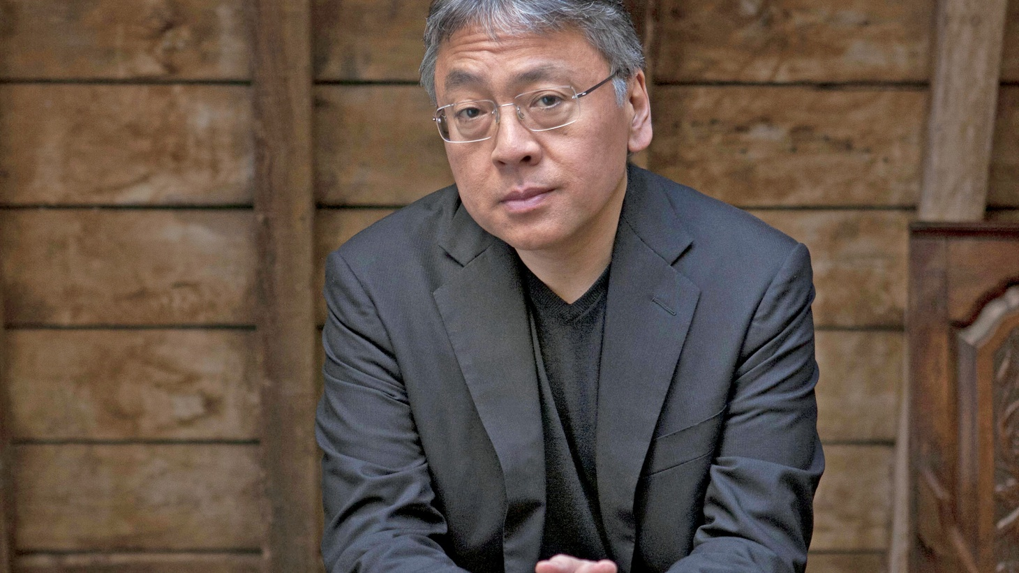 Kazuo Ishiguro starts the interview about his new book as a look at the concept of societal memory.