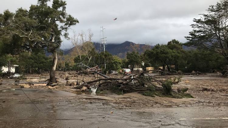 Rain showers and thunderstorms used to bring relief for drought-stricken Santa Barbara.