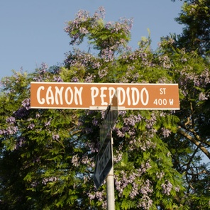 What's the story behind Canon Perdido Street in Santa Barbara?