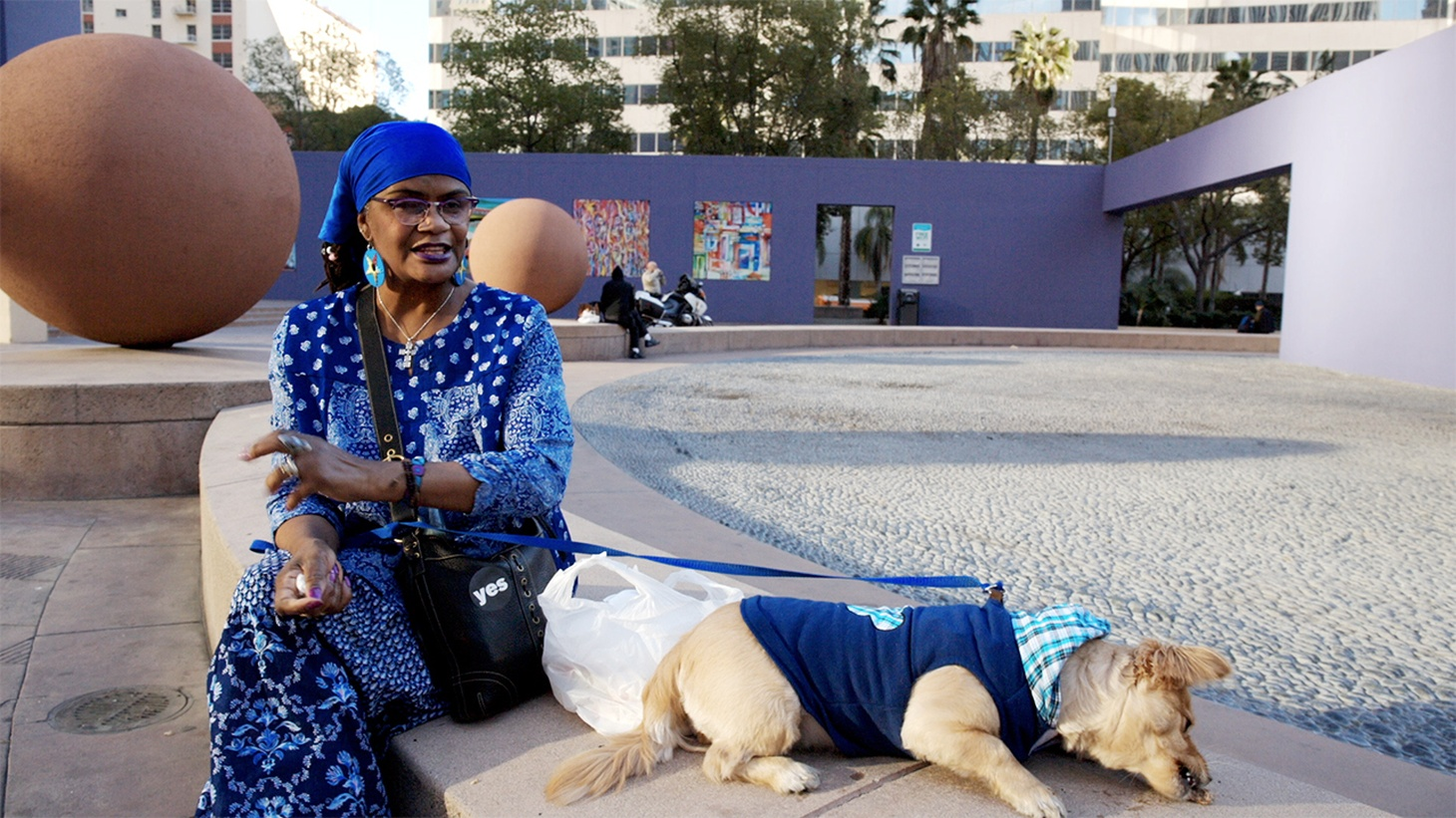 "A woman who had fallen on hard times finds a new identity in DTLA's Pershing Square, in the movie ""Redemption Square."""