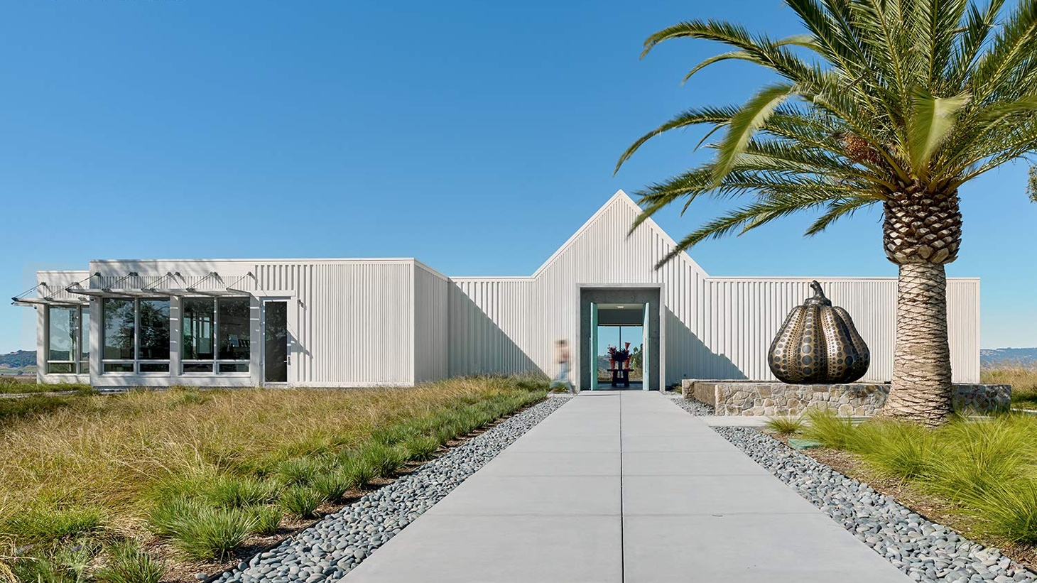 In her book, The New Architecture of Wine, author Heather Hebert features 25 wineries whose architecture celebrates California wine making and tasting.