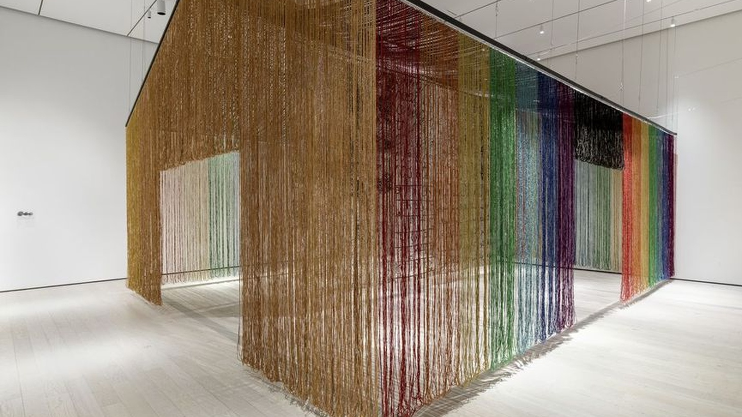 """Gu Wenda's """"United Nations: American Code"""" from """"The Allure of Matter: Material Art from China"""" now at LACMA."""