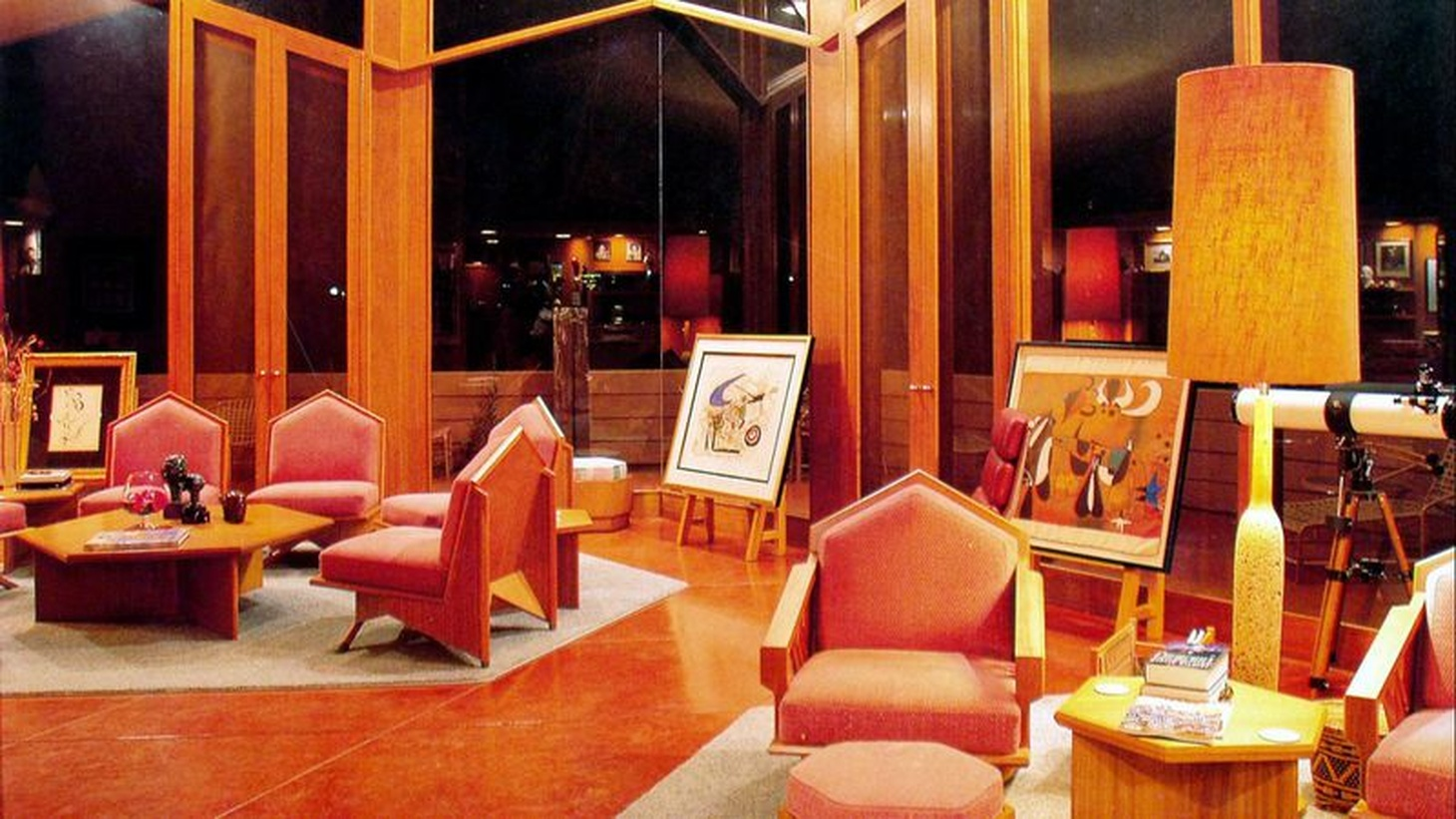 The George and Millie Ablin House in Bakersfield, shown here in 2004, is one of five Frank Lloyd Wright homes that will open to the public for a fundraising tour.