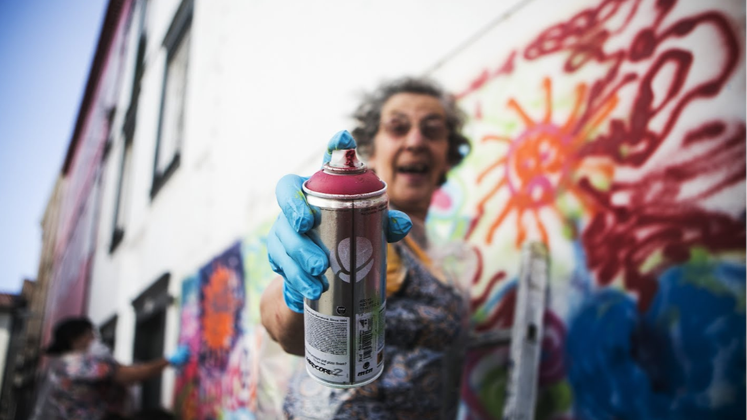 You are never to old to create street art. Google Art Project goes to Ponta Delgado, Portugal