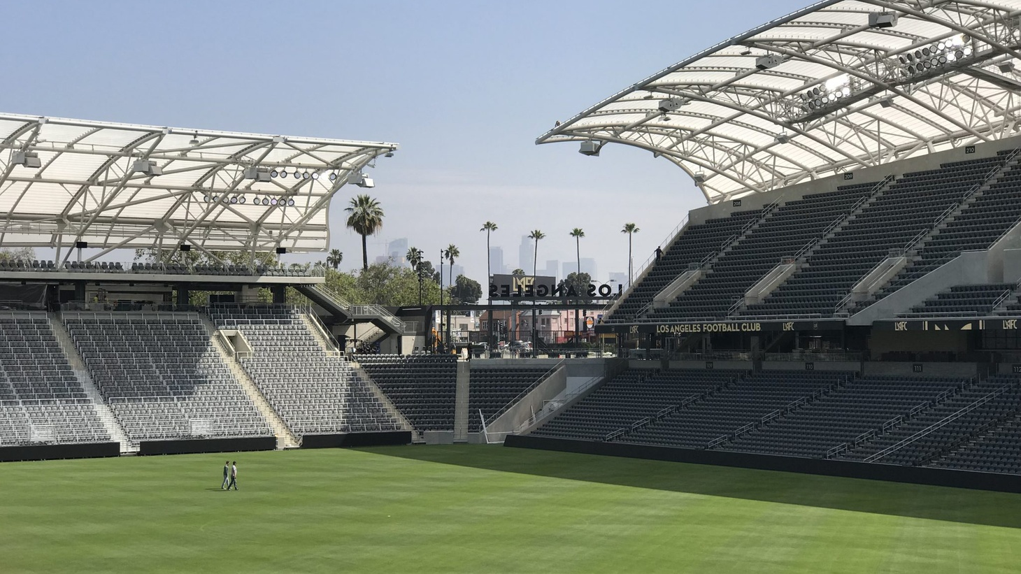 The new $350 million dollar arena of the Los Angeles Football Club sounds huge - 22,000 seats – but its owners say it will feel intimate.