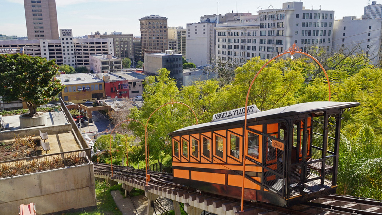 A downtown Los Angeles landmark returns this week. Starting Thursday, you'll once again be able to ride Angels Flight from Grand Central Market to the top of Bunker Hill and back. The newly-upgraded train has been dark for four years, following a series of derailments and other issues.