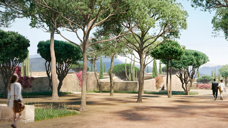 A rendering of the Berggruen Institute in the Santa Monica Mountains Image courtesy of Herzog & de Meuron   There's an ambitious plan for a site high in the Santa Monica Mountains,…