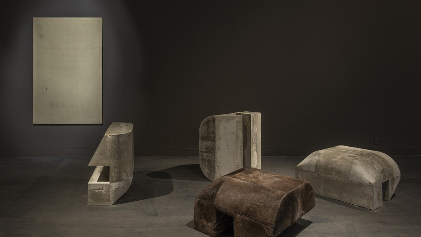 """Installation view of """"Rick Owens: Furniture"""" atMOCA Pacific Design Center Photo courtesy of The Museum of Contemporary Art, Los Angeles."""