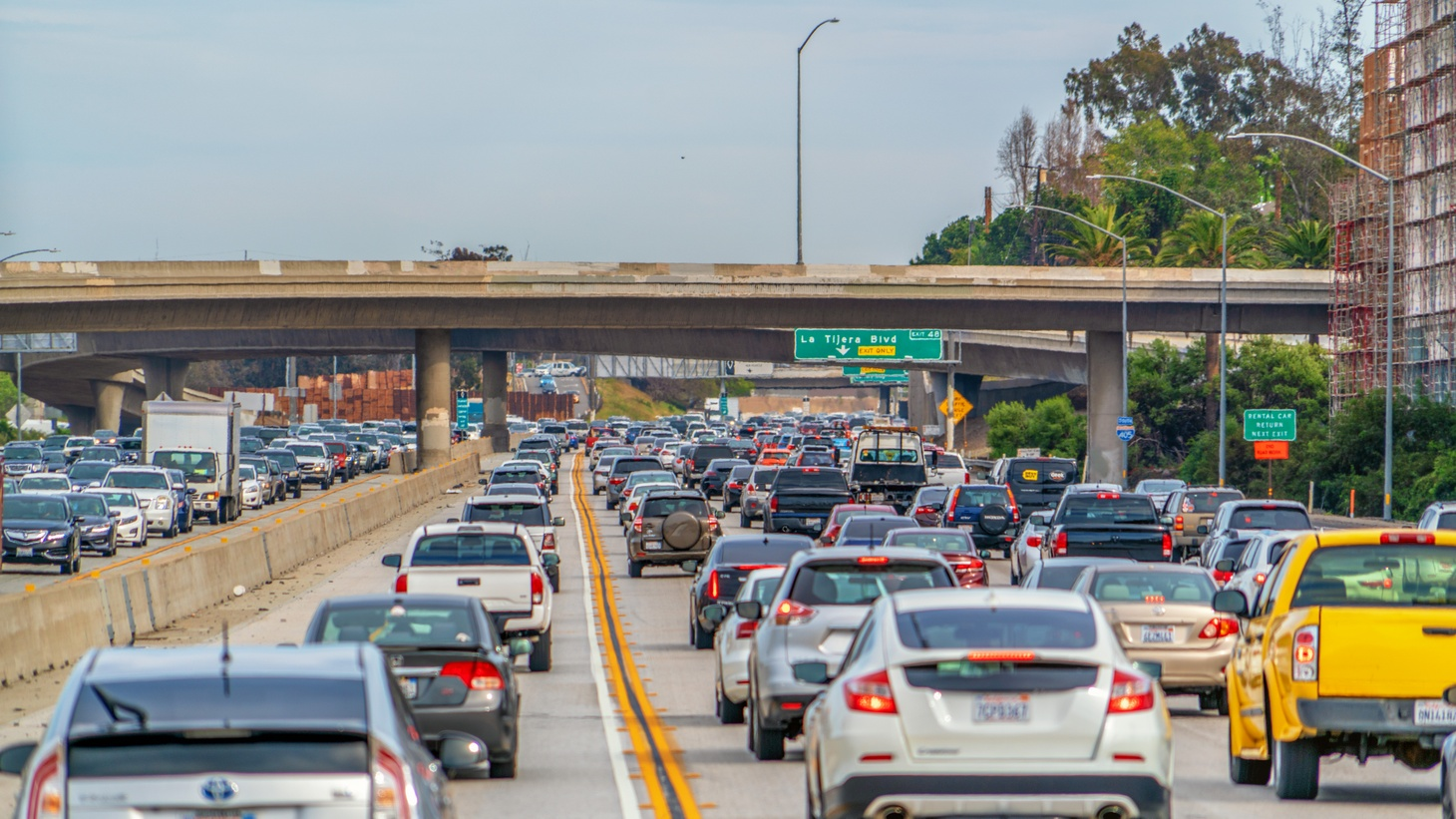 A typical day on the 405 freeway.
