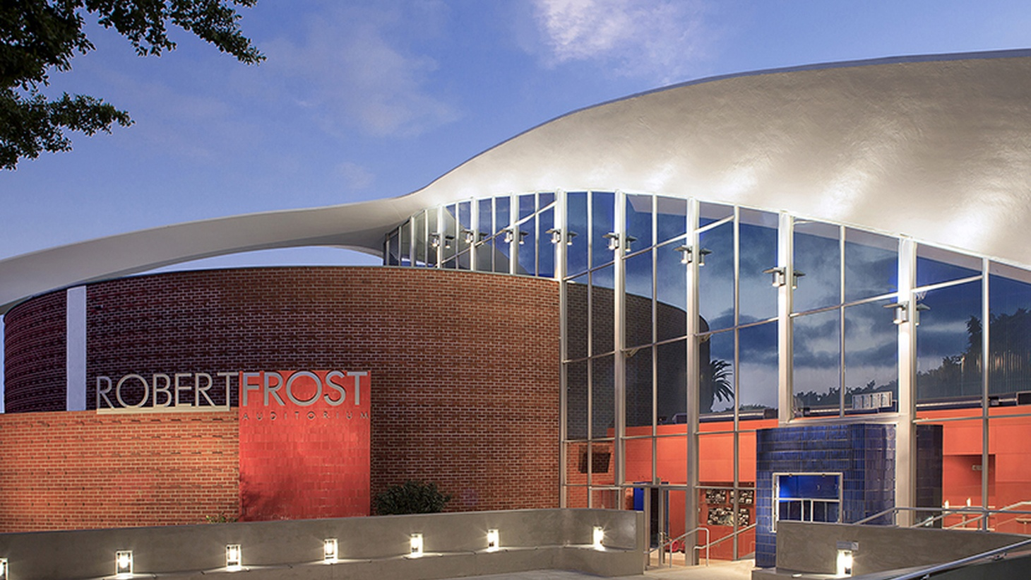 The Robert Frost Memorial Auditorium, with a renovation overseen by H+F Architects.