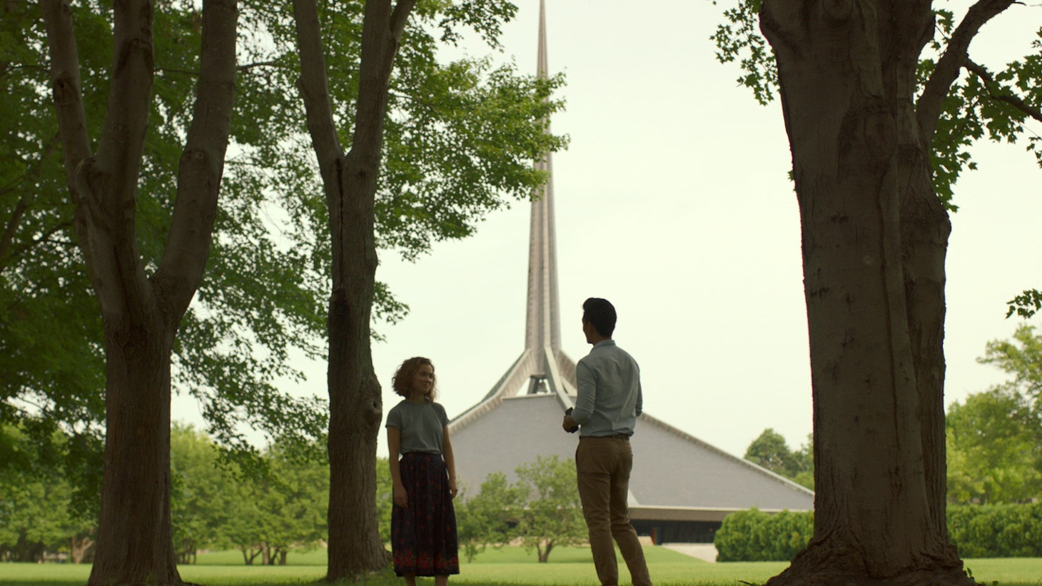 Here's a pop quiz for architecture buffs. Where in America's Midwest can you find a very small town with more than 60 modernist gems? The place is Columbus, Indiana. Now the city is the star -- along with actors Haley Lu Richardson and John Cho -- of the movie  Columbus  by first-time director Kogonada. It opens this weekend in LA.